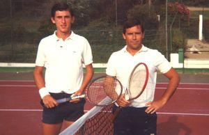 Igor Del Busto y José Ignacio Greño (Los dos directores que ha tenido el Open y que además han sido campeones del social)