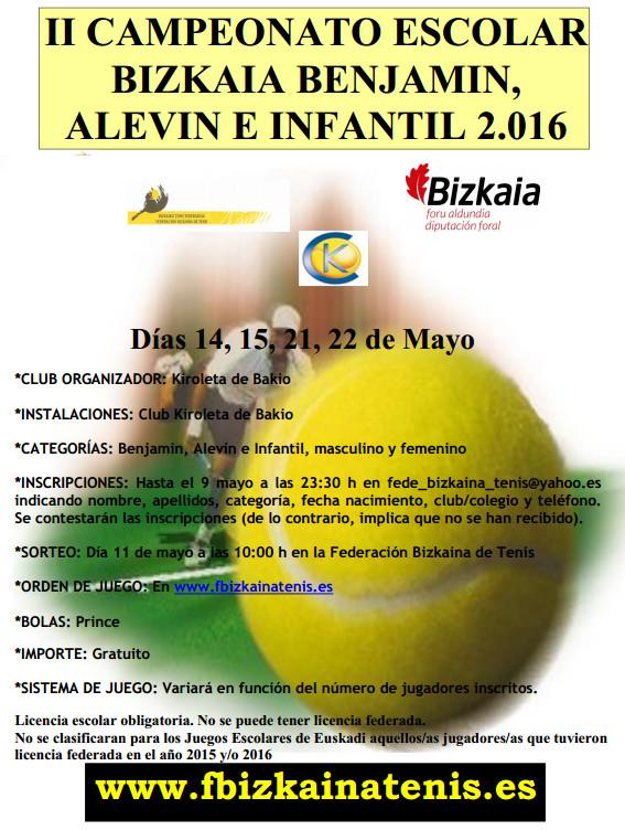 II Campeonato Escolar Bizkaia Benjamin Alevin