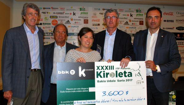 Presentación ITF Futures Kiroleta Bakio Udala Saria