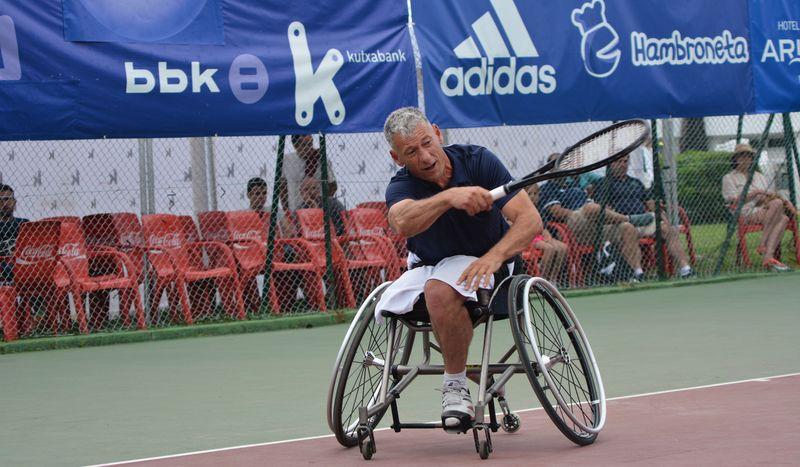 exhibicion tenis en silla open kiroleta bakio